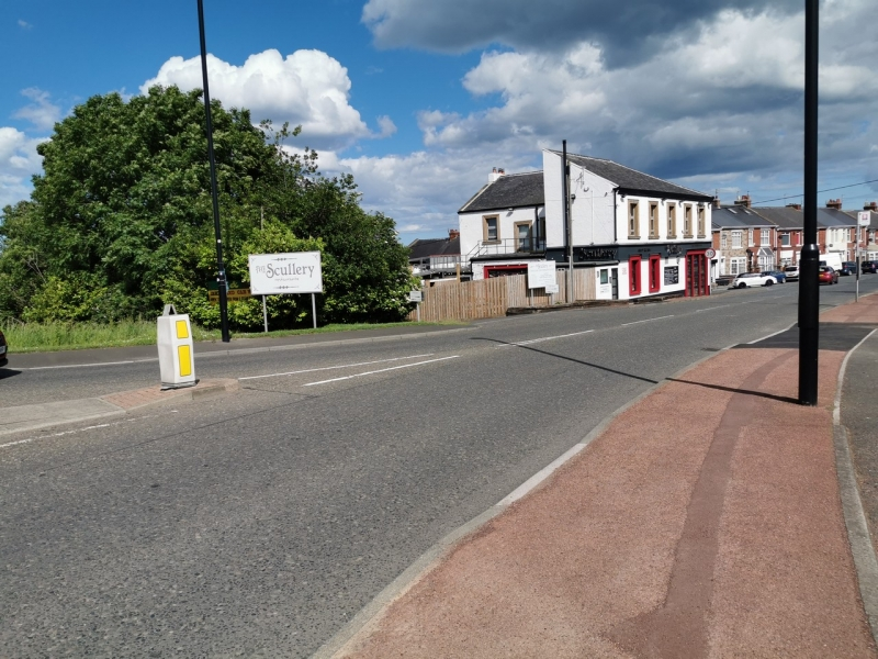 Image of Silksworth Lane and the Scullery eatery in the back ground